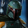 The galaxy's favorite bounty hunter is on the hunt