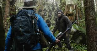 Scene with Malcolm and the Apes